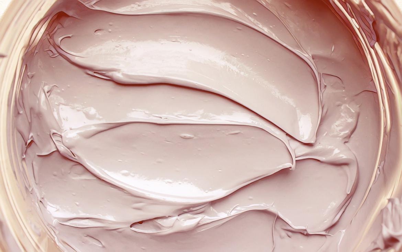 розовая глина в баночке