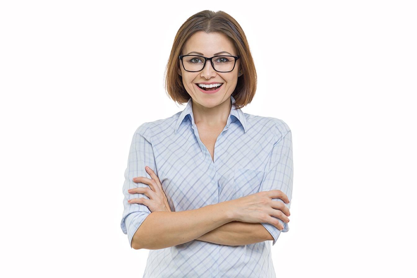 женщина после лактобионового пилинга